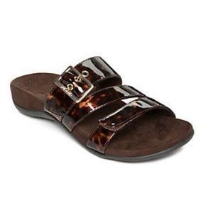 Vionic Skylar Leopard Faux Leather Sandals-Wide